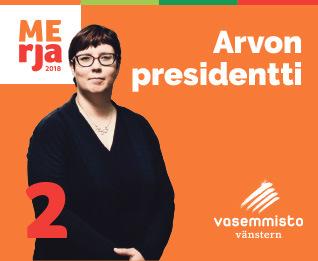 Arvon presidentti Merja Kyllönen Pirkanmaalla